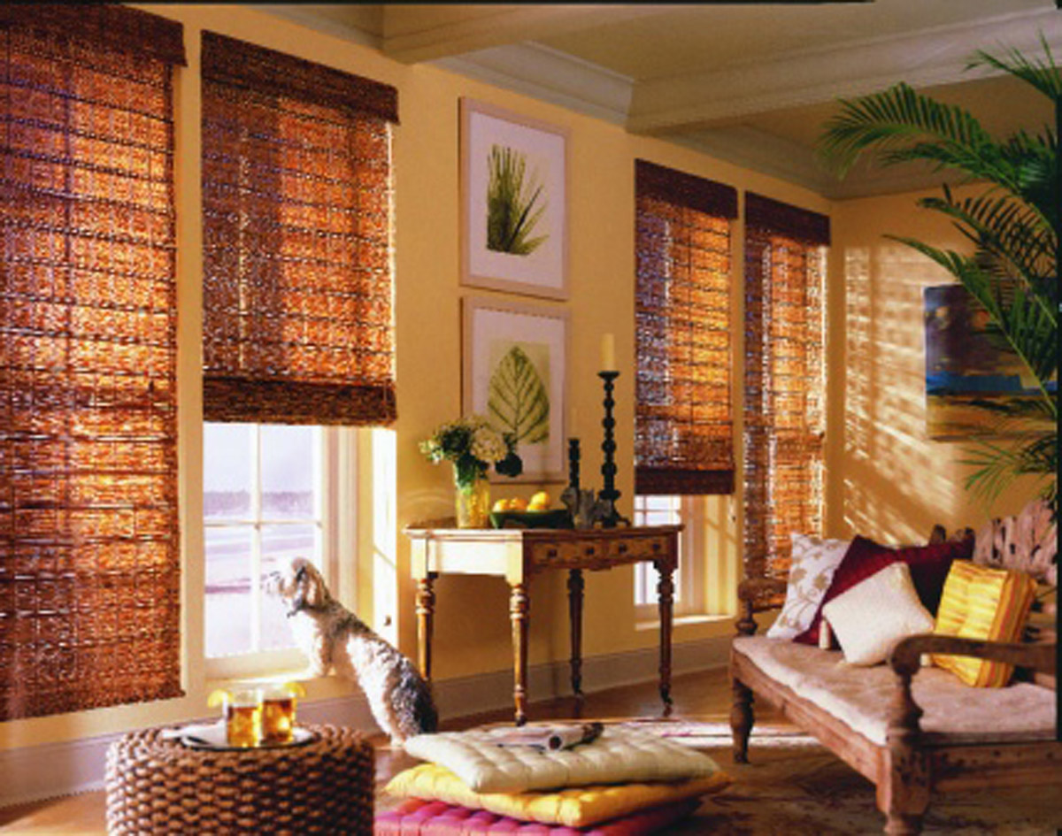 Woven Wood Shades And Grass Weave